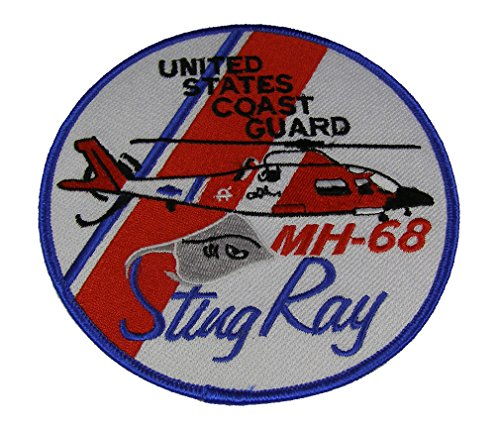 USCG MH-68 STINGRAY HELICOPTER PATCH - COLOR - Veteran Owned Business (Coast Cruise Jacket)