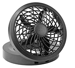 "O2 Cool 1123 Folding Portable USB or Electric Fan, 5"", 1 Speed (Assorted color)"