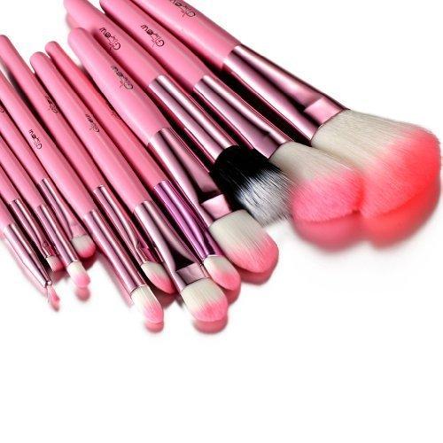 Glow rose professionnel 12 lot pinceaux maquillage trousse en cas exquisge Brush Set Paragon Enterprise Limited Glow-MB-9