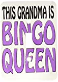 3dRose lsp_149773_1 This Grandma Is Bingo Queen Purple Single Toggle Switch