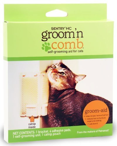 Sentry HC Groom'n Comb/with Catnip Pouch - Pack of 2
