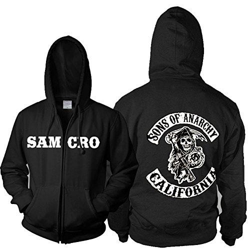 Cool Samcro Cosplay Kostüm Zip Hoodie Jacke Deluxe Sweatshirt l?ssig Herren Kleidung Top Merchandise