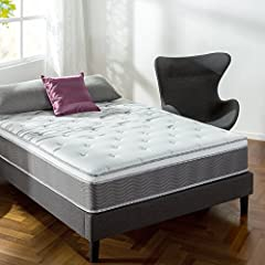 The Zinus Support Plus Mattress collection is made with an additional 10% more individually wrapped iCoils in the core of the mattress to provide extra support and motion separation for a comforting night's sleep. The foam layers above the Su...