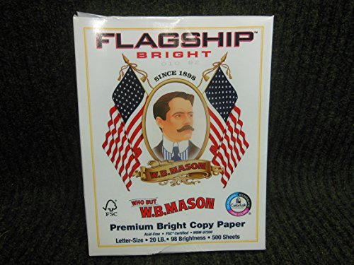 W.B.Mason Flagship Premium Bright Copy Paper Letter Size 500 Sheets Acid Free 98 Brightness