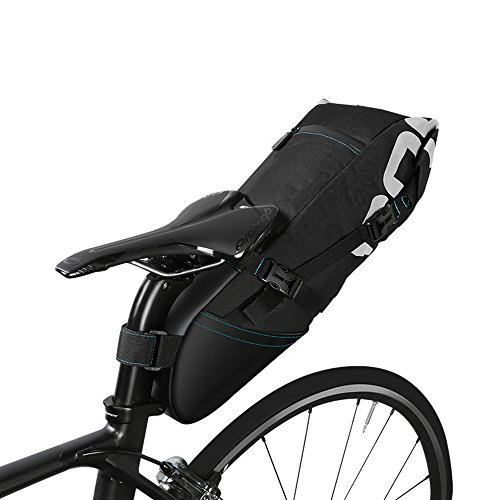 Ideashop Waterproof Bike Bicycle Saddle Bag Seat Bag Under Seat Packs Tail Pouch Cycling Bicycle Mountain Road MTB Bike Bicycle 10L Bike Seat Tail Bag