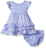 Rosie Pope Baby Girls' 2 Piece Set with Headband and Matching Diaper Cover, Seagull, 18M