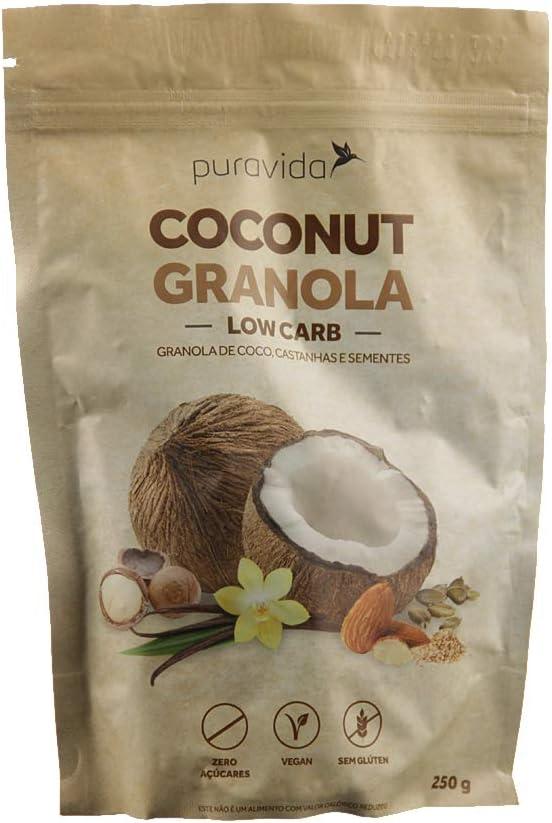 Coconut Granola Low Carb Puravida 250g por Puravida