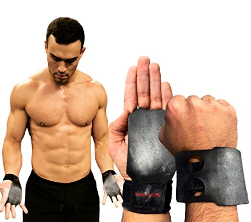 (PIVOT gRIPS Elite Rotating Gymnastics, Cross Training, Pullup, WOD, Weight Lifting, Kettlebell & Deadlift Workout Hand Grip Gloves; Callus Protection & Wrist Support for Men and Women)