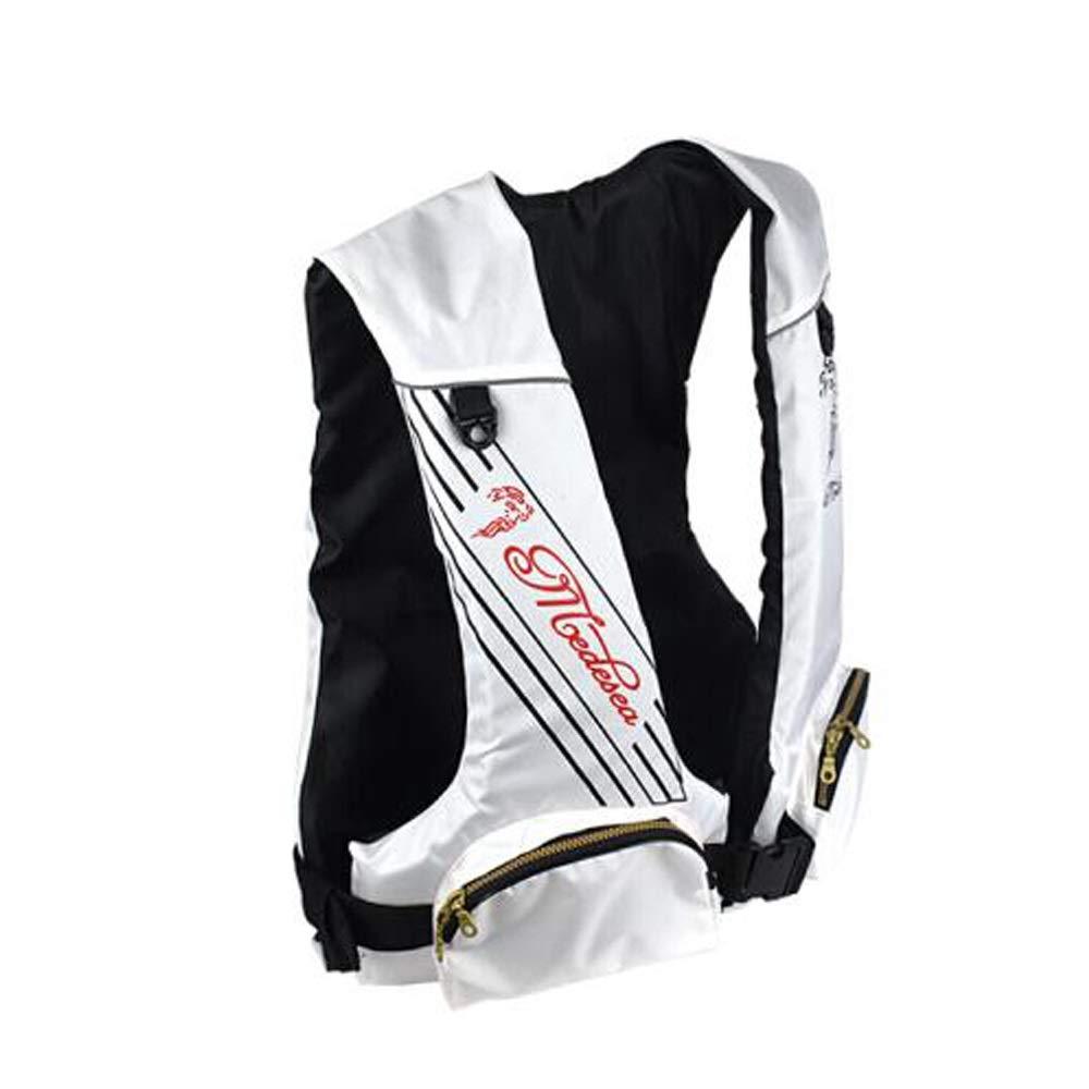 ライフジャケット、アダルトライフジャケット、ブラック (Color : 白い) 白い