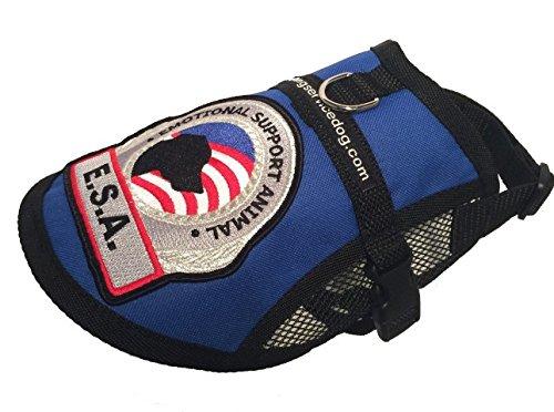 (Premium Small Dog Emotional Support Dog ESA Mesh Vest (19