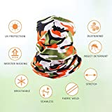 6 Pieces Sun UV Protection Face Mask Neck Gaiter