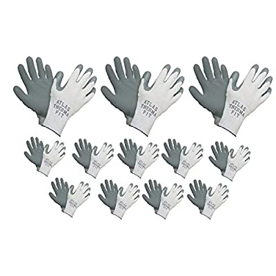 Atlas 451 Therma-Fit Cold Weather Insulated Rubber Small Work Gloves, 12-Pairs
