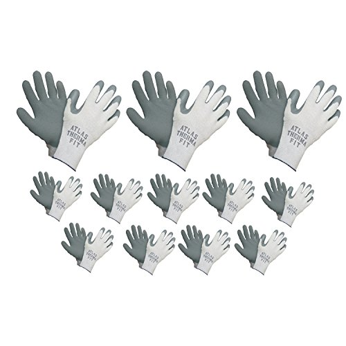 (Atlas 451 Therma-Fit Cold Weather Insulated Rubber Small Work Gloves, 12-Pairs)