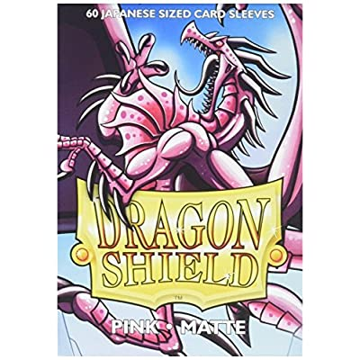 Arcane Tinman Dragon Shield Sleeves - Matte Japanese Pink (60) Card Sleeves: Toys & Games
