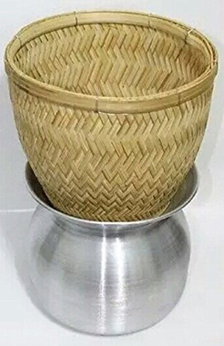 Thai Sticky Rice Steamer Handcraft Cook Thai Food Manu (Basket Only)
