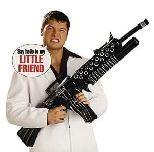 Scarface - Ametralladora hinchable para disfraz de Tony Montana en El precio del poder