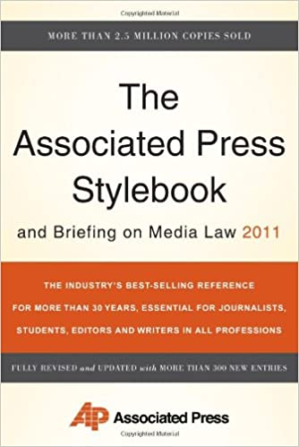 Book Associated Press Stylebook and Briefing on Media Law 2011 (Associated Press Stylebook and Briefing on Media Law)