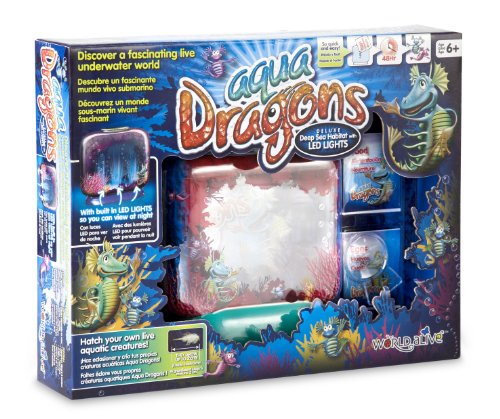 World Alive Aqua Dragons Deluxe Deep Sea Habitat with Led Lights Base