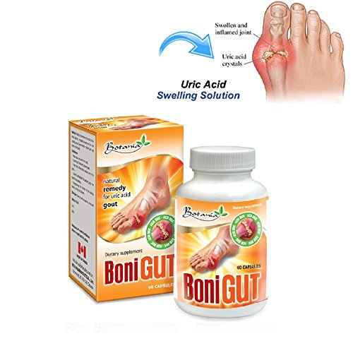 Gout - BoniGut, 01 Box x 60 Capsules, Natural Remedy for URIC ACID GOUT Relief by Brian Supermarket