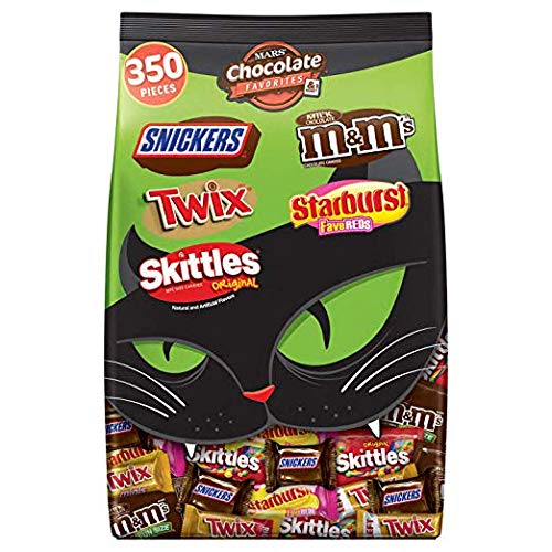Mars Chocolate & More Halloween Candy Variety Mix (M&M'S, SNICKERS, TWIX, STARBURST & SKITTLES), 350 Pieces 7 lb Bag (3 Pack)