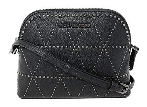 Michael Kors Adele Medium Dome Leather Crossbody bag in Black