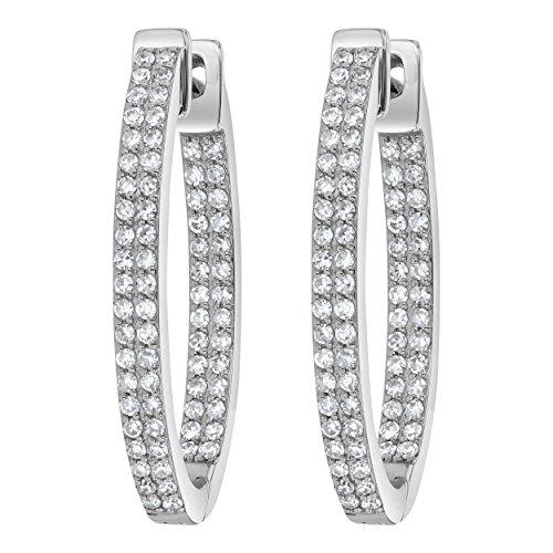 Olivia Paris 14k White Gold Diamond Earrings (0.69 cttw, H-I Color, SI2-I1 Clarity) 0.8