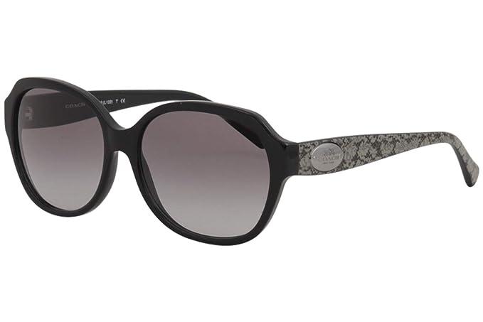 Amazon.com: Coach hc8150 de la mujer anteojos de sol, negro ...