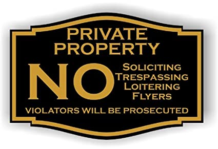 amazon com small private property no soliciting no trespassing no