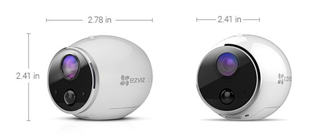 EZVIZ Mini Trooper Wire-Free Indoor / Outdoor Security Camera System with 8GB MicroSD Card, Works with Alexa by EZVIZ (Image #4)