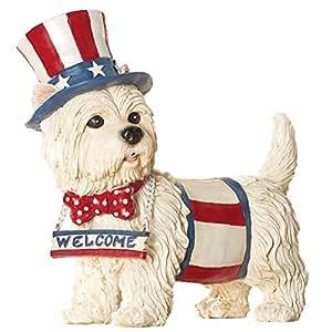 Ladra Sensor de movimiento Bienvenido patriótica perro
