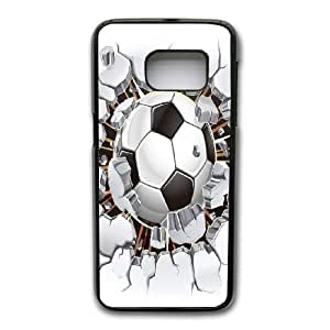 Generic Fashion Hard Back Case Cover Fit for Samsung Galaxy S7 Cell Phone Case black Cool Football for boy with Free Tempered Glass Screen Protector EUI-8470010