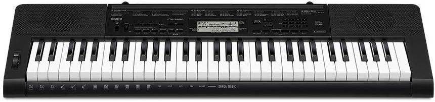 Casio CTK-3500 - Teclado digital, 61 teclas sensibles, estilo piano, Negro: Amazon.es: Instrumentos musicales