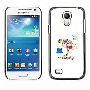 Best-Diy LASTONE cell phone case cover / Slim Protector case cover case cover for Samsung Galaxy S4 Mini i9190 MINI VERSION! / Kids qeNNhFgPFgX Art White Minimalist