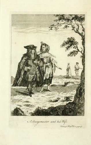 ANTIQUE PRINT COSTUME-MAYOR- AND HIS WIFE-1767 -