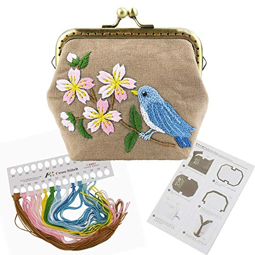 DIY Coin Purse Kiss Lock Making Kit Embroidery Pouch Material Supplies (511808)