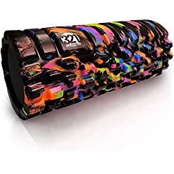321 STRONG Foam Massage Roller - Multi Colored Deep Tissue Massager For Your Muscles & Back, Aurora