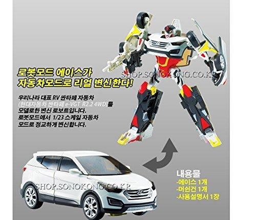 Hello CARBOT- Hello CARBOT santafe ace W Transformer Robot, Korean Animation, Korean toy B00QWG3BD4