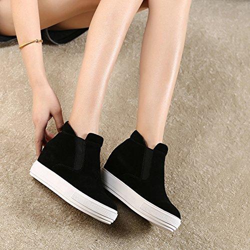 Invierno de suela mujer mayor/Zapatos de suela gruesa perezoso A