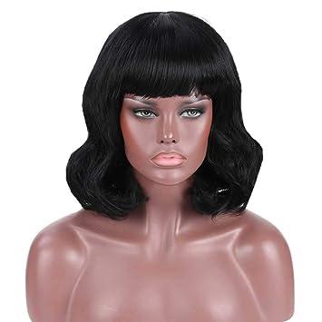 Difei Stylish Layered Bob Medium Hairdo With Bangs Amazon Com