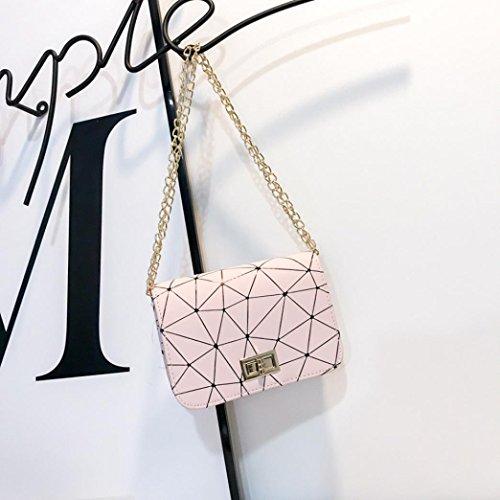 Mesdames 2018 bandoulière en Womens ALIKEEY épaule Valentin tour Splice cuir Fashion Rose messenger à sacs sac épaule diagonale petit carré sac Cadeau mosaïque la mode Saint mode de serrure paquet dBI7xqX7