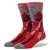Stance Men's Red Guard Socks,Medium,Gray