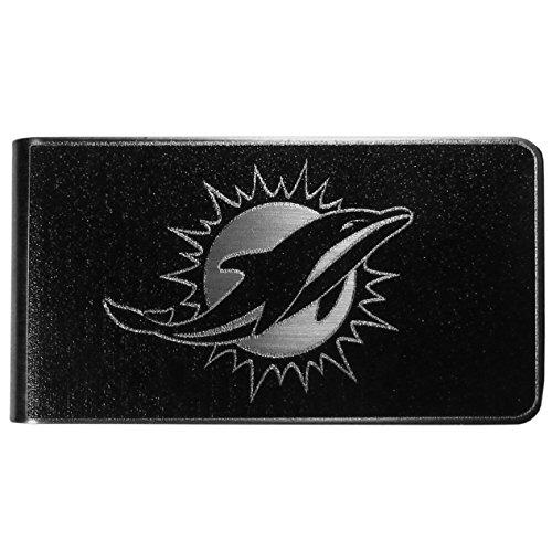 NFL Miami Dolphins Black & Steel Money Clip
