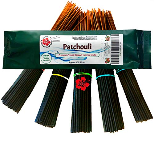 (WagsMarket Premium Hand Dipped Incense Sticks, You Choose The Scent. 100-12in Sticks. (Patchouli))