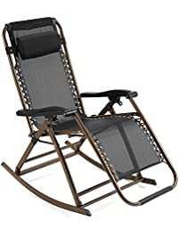 folding sun lounger rocking chair