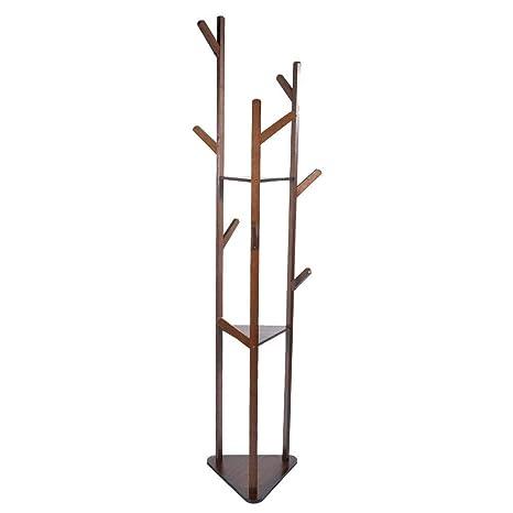 Perchero, Ropa de árbol de bambú Ropa Abrigo Sombrero ...