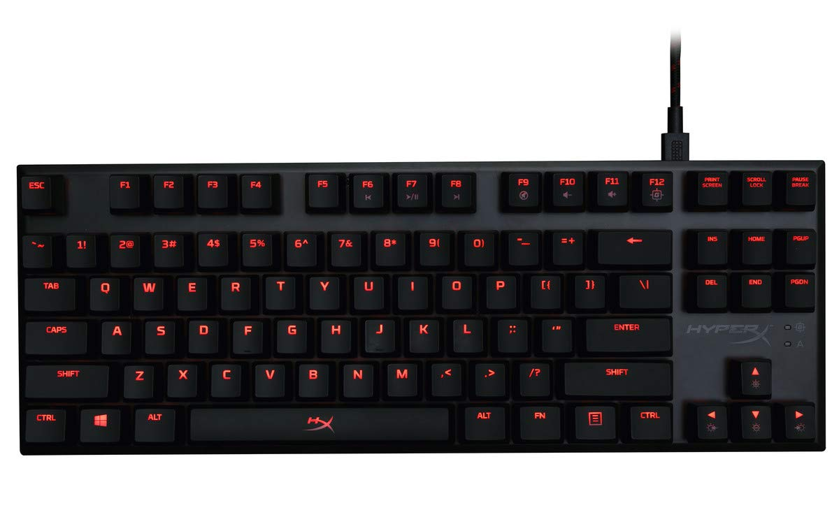 HyperX Alloy FPS Pro - Tenkeyless Mechanical Gaming Keyboard - 87-Key, Ultra-Compact Form Factor - Linear & Quiet - Cherry MX Red - Red LED Backlit (HX-KB4RD1-US/R1) by HyperX