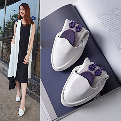 SHINIK Zapatos de mujer PU Spring Fall Slip-Ons Guisantes Zapatos Mocasines planos Confort Driving Shoes Formal Business Work UN