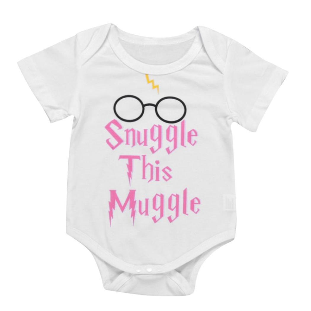 erthome Baby Jungen Brief Print Strampler Kleidung Neugeborenen Kinder Overall Pyjamas Outfits