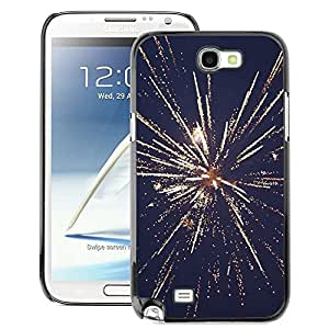 A-type Arte & diseño plástico duro Fundas Cover Cubre Hard Case Cover para Samsung Note 2 N7100 (July Independence Day New Years Fireworks)