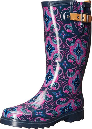 Chooka Women's Magic Carpet Rain Boot Navy Boot (7 B(M) US, Navy)